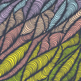 Hand-drawn waves background. Hand-drawn colorful waves background. Abstract illustration Stock Illustration