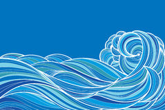 Hand drawn waves Royalty Free Stock Images