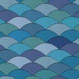 Hand-drawn waves pattern Royalty Free Stock Photo