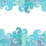 Hand drawn wavy background. Royalty Free Stock Images