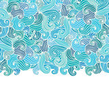 Hand drawn wavy background. Stock Image