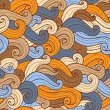 Hand drawn wavy seamless pattern Royalty Free Stock Image