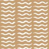 Hand drawn wavy stripes seamless pattern vector stock illustration