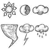 Hand drawn weather. Good weather, bad weather. Weather vector. Royalty Free Stock Image