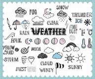 Hand drawn weather icon  Stock Photo