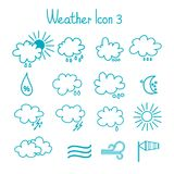 Hand drawn weather icon set. Stock Image