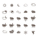 Hand Drawn Weather Icon Set Royalty Free Stock Photo