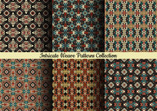 Hand Drawn Weave Patterns On Dark Royalty Free Stock Photography
