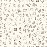 Hand drawn web and computer icons Stock Photo
