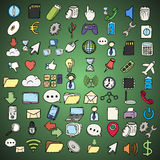 Hand drawn web and computer icons set. Stock Image