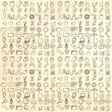 Hand drawn web and computer icons set. Royalty Free Stock Photo
