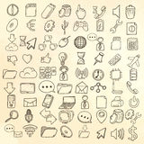 Hand drawn web and computer icons set. Royalty Free Stock Image