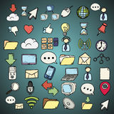 Hand drawn web and computer icons set. Stock Images