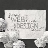 Hand drawn web design diagram Stock Photography
