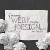Hand drawn web design diagram Stock Photography