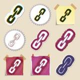 Hand drawn web emblems set. Isolated Stock Images
