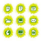 Hand drawn web icons Stock Photos