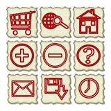 Hand drawn web icons Royalty Free Stock Photography