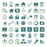 49 hand-drawn web icons. Set of 49 web icons hand drawn Royalty Free Stock Photos