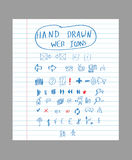 Hand drawn web icons Royalty Free Stock Image