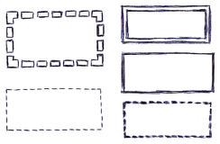 Hand-drawn Web Website Boxes (Isolated) royalty free illustration