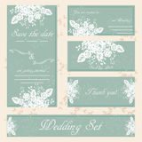 Hand drawn wedding invitation card, boho style, vector Royalty Free Stock Image
