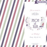 Hand drawn wedding invitation card, boho style, vector Royalty Free Stock Photography