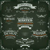 Hand Drawn Western Banners And Ribbons Royalty Free Stock Image
