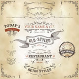 Hand Drawn Western Banners And Ribbons Royalty Free Stock Photo
