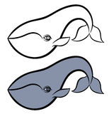 Hand drawn whale Royalty Free Stock Image