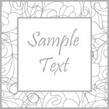 Hand drawn white art frame Stock Images