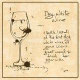 Hand drawn White Wine Royalty Free Stock Photos