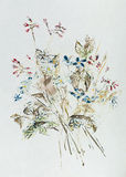 Hand drawn wildflower bouquet. Hand painted wildflower bouquet. Watercolor. Impressionism Royalty Free Stock Image