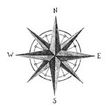 Hand drawn wind rose Stock Photos