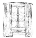 Hand drawn Windows sketch Royalty Free Stock Image
