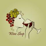 Hand drawn Wine label Stock Image