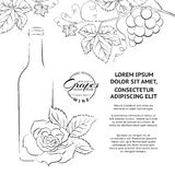Hand drawn wine label Royalty Free Stock Images