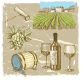 Hand drawn wine Royalty Free Stock Photo
