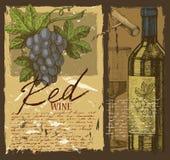 Hand drawn wine Stock Photo