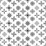 Hand drawn winter seamless patterns with snowflakes. Hand drawn winter seamless patterns. Christmas, New Year backdrop. Decorative background with snowflakes for Stock Illustration