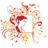 Hand drawn woman Stock Images