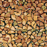 Hand drawn wood logs Stock Photo