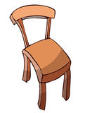 Hand Drawn Wooden Chair in Perspective View. Royalty Free Stock Image
