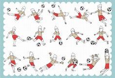 Hand drawn World cup set B Royalty Free Stock Photo