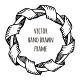 Hand drawn wreath made in vector. Leaves garlands. Romantic floral design elements. Stock Image