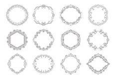 Hand drawn wreaths Royalty Free Stock Image