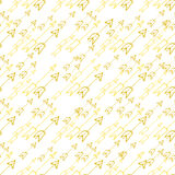 Hand-drawn yellow arrows on white background Royalty Free Stock Images