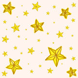Hand drawn yellow star doodle Stock Photography