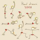 Hand Drawn Yoga Royalty Free Stock Photo