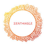 Hand drawn zentangle document template Stock Image